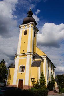 Kostol svätého Michala Archanjela (Nemšová) - čelný pohľad