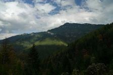 pohľad na Poludnicu po zelenej z Iľanovského sedla do Iľanovskej doliny