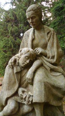 socha na symbolickom cintoríne Demänovská dolina