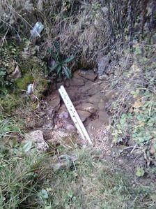 Slabší vodný prameň pod Čiernym vrchom