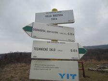 Turistický smerovník Villa Rustica