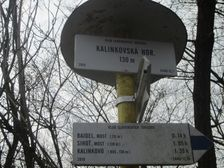 Turistický smerovník Kalinkovská horáreň