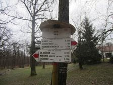 Turistický smerovník Kačín