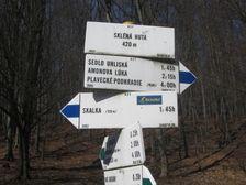 Turistický smerovník Sklená huta