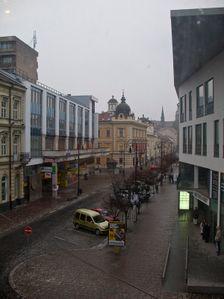 Mlynská ulica z okna Jakabovho paláca