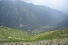 Príslop - lavinozny žlab smerom do Žiarskej doliny