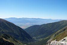Smutné sedlo smerom do Žiarskej doliny a Nízke Tatry