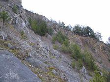 Tu stala do roku 1960 Ostra skala - bola odstrelena
