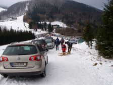 Fačkovské sedlo v zime - parking