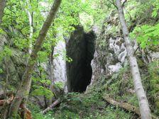 Gotická jaskyňa - vchod