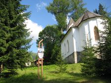Kostol a erb na Magurke