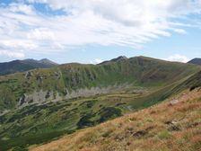 Záver Krížskej doliny smerom na Chopok (východ)