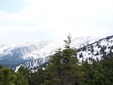 Oruzlie - east - Pohlad na hreben Boru