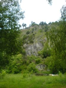 Liskovsky kamenolom - centralna skala