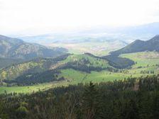 Tlstá hora-Dubovské lúky smerom na Liptov