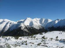 Vyhlad na hrebene Zapadnych Tatier