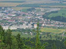 Veľká skala - smerom na juh mesta Ružomberok