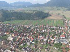 Lisková smerom na Mních - letecký pohľad