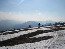 Kubínska hoľa - pod vrcholom na lyžiach