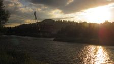 Zapad slnka nad Dunajcom