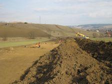 Výstavba dialnice D1 - prípravné práce pri Liskovej
