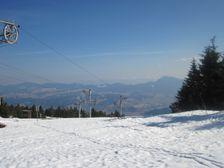 Kubínska hoľa - vrcholová stanica smerom na Chočské vrchy