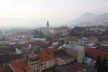 Centrum a Mestký urad od M.R.Štefánika