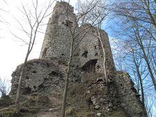 Strečno - Starý hrad od východu