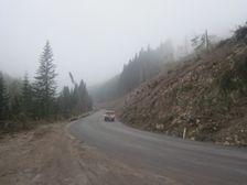 Cesta na Smrekovicu po polome v lete 2010