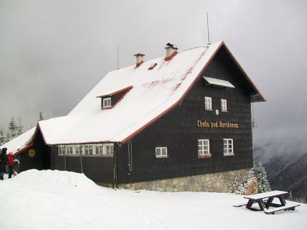 Chata pod Borisovom v zime