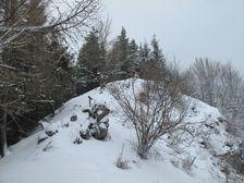 Vrchol Ostrého v zime