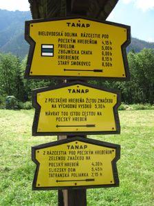 Turisticka znacka v Bielovodskej doline