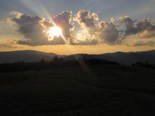 Západ slnka na Panskom diely