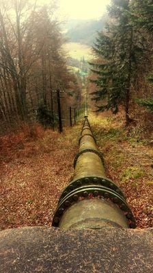 Spadova rura  -Hydroelektraren Jasenie - Rigel