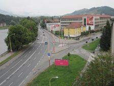 Zilinska ulica a krizovatka pri Priemyslovke