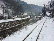 Hronec - zeleznicke kolaje pri namesti 6.marca