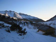 Rano na Brncalke - smerom do doliny - inverzia