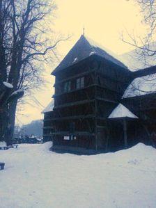Artikularny kostol v Hronseku v jeden zimny podvecer