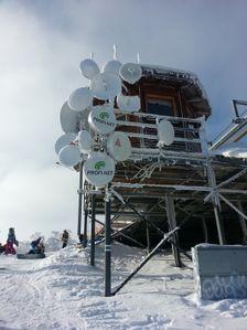 Malino Brdo - anteny na vrchole