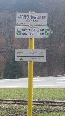 Alpínka, rázcestie