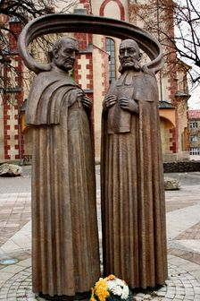 Statues of Stefan Moyses and Karol Kuzmany